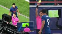 Luis Suárez protagonizó un insólito hecho en el duelo por Champions League.