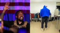 El rapero Kanye West se mostró optimista al compartir en sus redes sociales el momento de su votación.