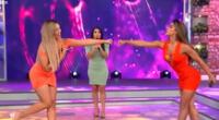 Isabel Acevedo y Karen Schwarz compiten en baile.