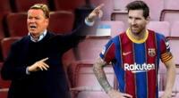 Messi irá al banco de suplentes.
