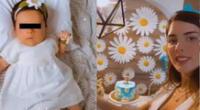 Korina Rivadeneira celebró los 2 meses de su bebé con hermosa decoración