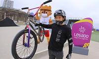 Diego tiene 24 abriles y es considerado la promesa del Ciclismo BMX.
