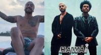 Maluma celebró en medio del mar el remix de 'Hawaí' junto a 'The Weeknd'