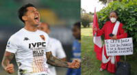 El incondicional hincha de la selección peruana se dirigió a Miraflores para esperar a Lapadula.