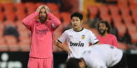 Valencia con tres goles de penal de Soler ganó 4-1 al Real Madrid. Sergio Ramos cometió un penal.