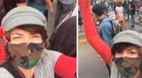 Tatiana Astengo se unió a la protesta en contra del nuevo presidente Manuel Merino.
