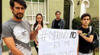 Actores de De vuelta al barrio expresan su rechazo a Manuel Merino.