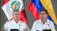 El presidente de Colombia se pronunció sobre la crisis política en Perú.