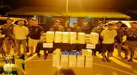 Los detenidos evitaron dar detalles de la ilícita mercadería