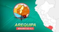 Sismo de 4.32 sucedió a las 21:16 horas en Arequipa, según información IGP.