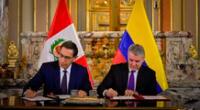 """Colombia indicó que ambos países """"avanzaron significativamente en la profundización de sus relaciones comerciales, políticas y diplomáticas"""", durante la Presidencia de Martín Vizcarra."""