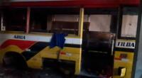 El bus recuperado que fue robado en octubre en Santa Anita