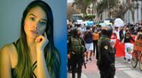 La expolicía Jossmery Toledo reconoció el esfuerzo que hace los agentes de la PNP en las manifestaciones.