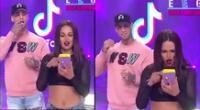 Angie Arizaga y Jota Benz sorprenden con tierno gesto tras cumplir reto TikTok