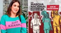 Tilsa Lozano se une en la lucha contra Manuel Merino y el Congreso.