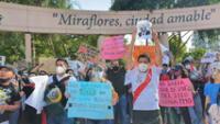 Protestas en contra de Manuel Merino en Miraflores