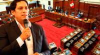 Luis Valdez renuncia a la Mesa Directiva el Congreso.