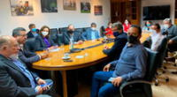 Manuel Merino y los ministros reunidos en plena madrugada.