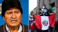 Evo Morales se pronunció sobre la crisis política del Perú.