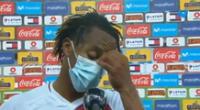 André Carrillo lamentó una nueva derrota de la selección peruana.