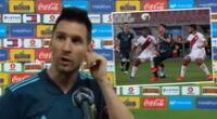 Lionel Messi hizo un análisis de lo que fue el Perú vs. Argentina por las Eliminatorias.