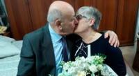 La segunda ola de la pandemia COVID-19 en Italia irrumpió esta hermosa historia de amor.
