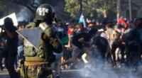 Dos niños resultaron heridos tras los disparos de Carabineros de Chile.