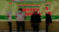 Los detenidos son investigados por la PNP