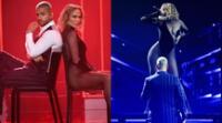 Los artistas Jennifer López y Maluma encendieron el escenario de los American Music Awards
