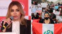 Gisela Valcárcel se mostró indignada por el trato agresivo que tuvo la Policía Nacional contra joven que asistió a protesta nacional en Plaza San Martín.