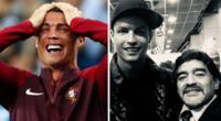 Cristiano Ronaldo sensible por la muerte de Diego Maradona.