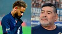 """Neymar sobre muerte de Maradona: """"Descansa en paz, leyenda del fútbol"""". En Twitter, el legendario deportista ha sido recordado por muchos seguidores."""
