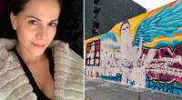 Mónica Sánchez molesta por destrucción del mural en memoria de Inti Sotelo y Bryan Pintado.