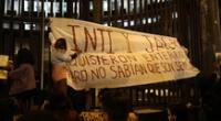Reconstruyen mural en honor a Inti Sotelo y Bryan Pintado, víctimas de la represión policial.
