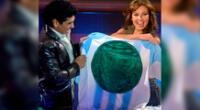 Thalía escribió unas conmovedoras palabras tras el fallecimiento de Maradona y colgó unas imágenes juntos.