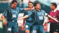 Simeone llena de elogios a Maradona.
