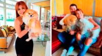 Magaly Medina emocionada con el cumpleaños de su mascota.