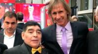 Ricardo Gareca y Diego Maradona se encontraron en Rusia 2018.