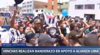 Hinchas de Alianza Lima acompañarán al micro blanquiazul hasta el Nacional.