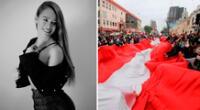 Jossmery Toledo emocionada con la solidaridad de compatriotas en el extranjero.