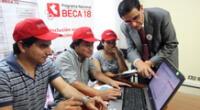 El concurso de Beca 18 va dirigido a escolares del 5 grado de secundaria y egresados del colegio con alto rendimiento académico y escasos recursos económicos.