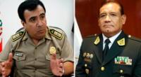El general PNP Óscar Gonzales Rabanal y el teniente general PNP, Edgardo Garrido López.