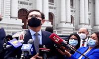 El expresidente de la República, Martín Vizcarra, llegó al Congreso para la audiencia sobre el caso de Richard Swing.