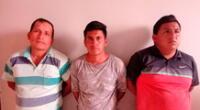 Los tres sujetos fueron conducidos hasta el Departamento de Investigación Criminal de Paiján para ser denunciados por el delito contra el patrimonio en la modalidad de usurpación agravada.