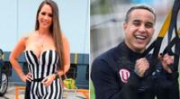 Melissa Klug feliz con el futbolista Jesús Barco.