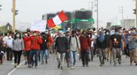 Pobladores de Challhuahuacho, en Apurímac, continúan la huelga desde hace seis días.