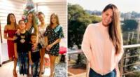 Melissa Klug feliz al pasar tiempo con sus cinco hijos.