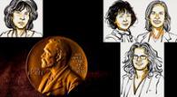 Premios Nobel: Louise Glück, de Literatura; Jennifer Doudna y Emmanuelle Charpentier, de Química., de Química; y Andrea Ghez, de Física.