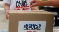 Ciudadanos venezolanos en Lima participan masivamente de la consulta popular convocado por Juan Guaidó.