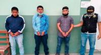 Miguel Medina Benavides (32), Luis Lazaro Yarlaque (34) y Paul Figueroa Maza (26) fueron puestos a disposición del Ministerio Público.